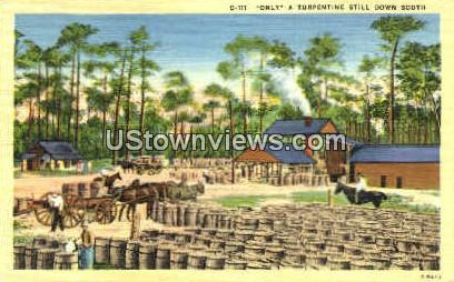 Only a Turpentine Still - Misc, North Carolina NC Postcard
