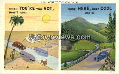 Come to the Mountains - Misc, North Carolina NC Postcard