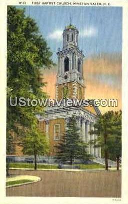 The First Baptist Church - Winston-Salem, North Carolina NC Postcard