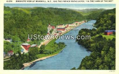 In The Land of the Sky - Marshall, North Carolina NC Postcard