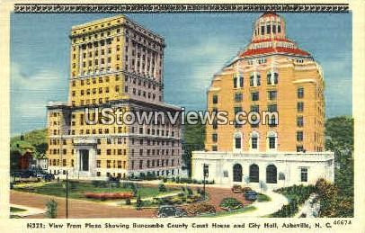 Buncombe County Court House - Asheville, North Carolina NC Postcard