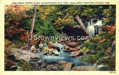 Rainbow Rocky-Spur Trail - Great Smoky Mountains National Park, North Carolina NC Postcard