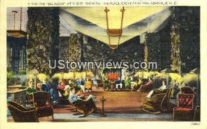 Big Room at Night-Grove Park Inn - Asheville, North Carolina NC Postcard