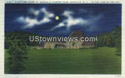 Night of Asheville Country Club - North Carolina NC Postcard
