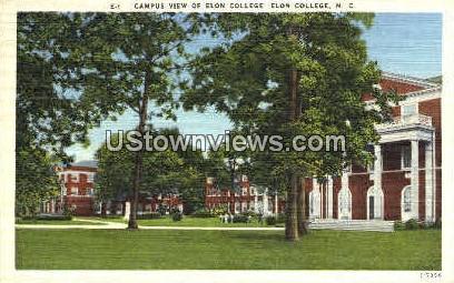 Campus View of Elon College - North Carolina NC Postcard