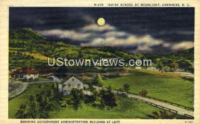 Indian School - Cherokee, North Carolina NC Postcard