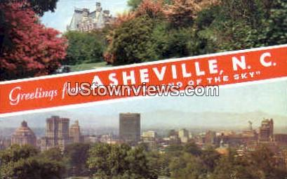 Greetings from - Asheville, North Carolina NC Postcard