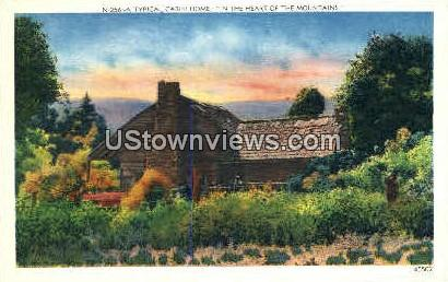 Typical Cabin Home - Misc, North Carolina NC Postcard