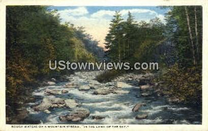 Rough Waters of a Mountain Stream - Misc, North Carolina NC Postcard