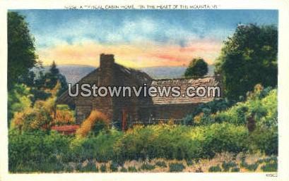 Cabin Home - Asheville, North Carolina NC Postcard