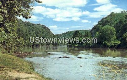 French Broad River - Asheville, North Carolina NC Postcard
