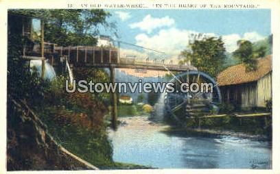 Old Water Wheel - Asheville, North Carolina NC Postcard
