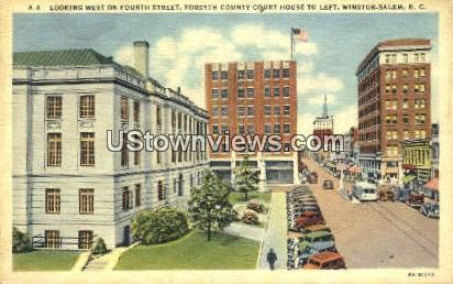 Forsyth County Court House - Winston-Salem, North Carolina NC Postcard