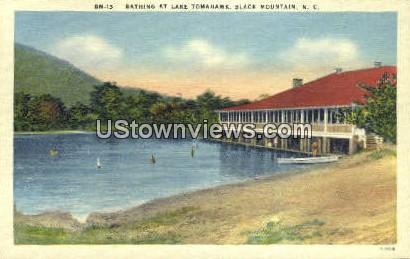 Lake Tomahawk - Black Mountain, North Carolina NC Postcard