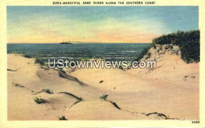 Sand Dunes - Misc, North Carolina NC Postcard