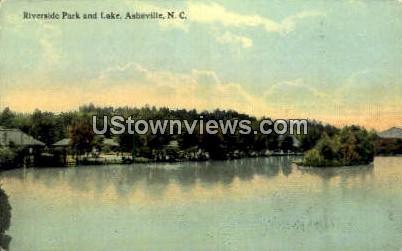 Riverside Park & Lake - Asheville, North Carolina NC Postcard