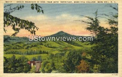 Bailey Mountain - Mars Hill, North Carolina NC Postcard
