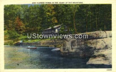 Summer Homes - Misc, North Carolina NC Postcard