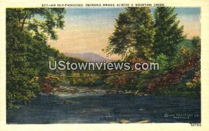 Swinging Bridge - Misc, North Carolina NC Postcard