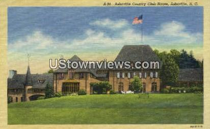 Asheville Country Club House - North Carolina NC Postcard