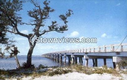 New Bridge - Roanoke Island, North Carolina NC Postcard