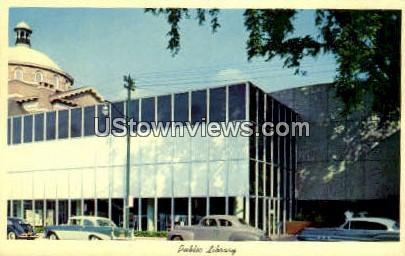 Public Library - Charlotte, North Carolina NC Postcard