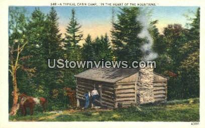 Cabin Camp - Misc, North Carolina NC Postcard
