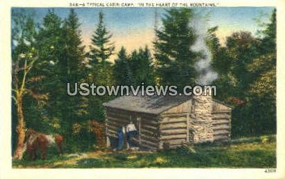 Cabin Home - Misc, North Carolina NC Postcard