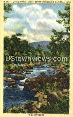 Little River - Great Smoky Mountains National Park, North Carolina NC Postcard