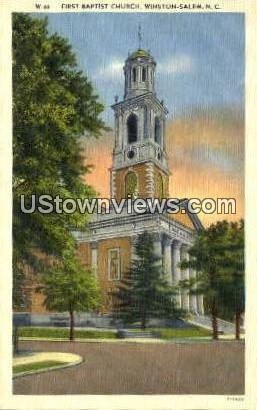 First Baptist Church - Winston-Salem, North Carolina NC Postcard