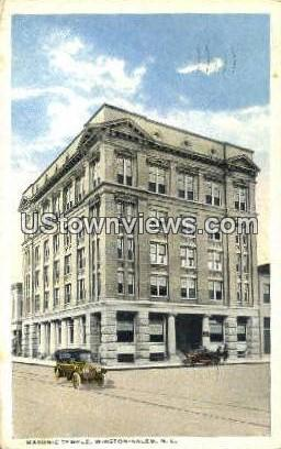 Masonic Temple - Winston-Salem, North Carolina NC Postcard