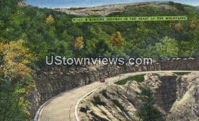 Winding Highway - Misc, North Carolina NC Postcard