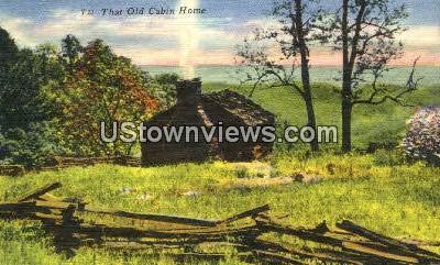 Old Cabin Home - Misc, North Carolina NC Postcard