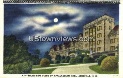 Appalachian Hall - Asheville, North Carolina NC Postcard