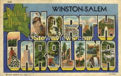 Winston-Salem, North Carolina, NC, Postcard