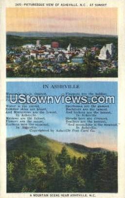 Asheville, North Carolina, NC, Postcard