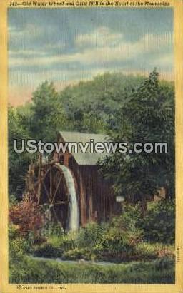 Grist Mill - Misc, North Carolina NC Postcard