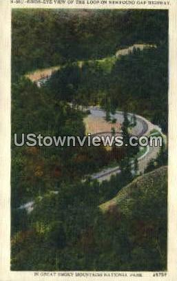 Newfound Gap - Great Smoky Mountains National Park, North Carolina NC Postcard
