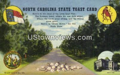 Tar Heel State - Misc, North Carolina NC Postcard
