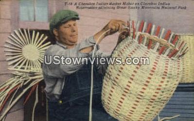 Cherokee Indian - Great Smoky Mountains National Park, North Carolina NC Postcard