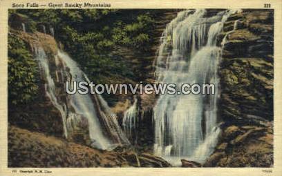 Soco Falls - Great Smoky Mountains National Park, North Carolina NC Postcard