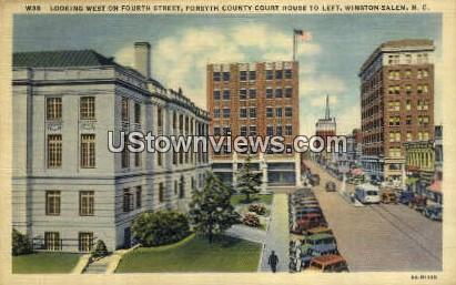 Forsyth County Court House - Winston-Salem, North Carolina NC Postcard