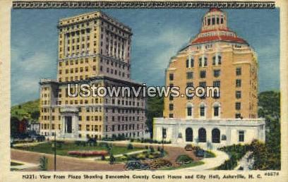 Buncombe County Court House - Asheville, North Carolina NC Postcard