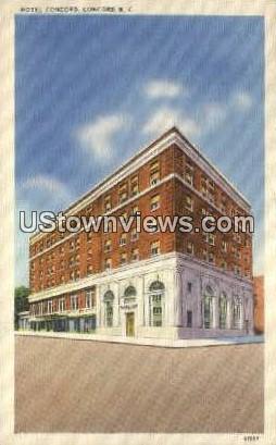 Hotel Concord - North Carolina NC Postcard