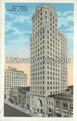 First National Bank Bldg - Charlotte, North Carolina NC Postcard