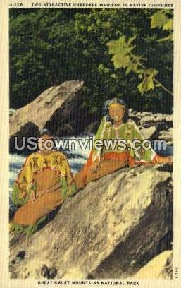 Cherokee Maidens - Great Smoky Mountains National Park, North Carolina NC Postcard