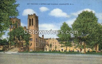 Dilworth Methodist Church - Charlotte, North Carolina NC Postcard