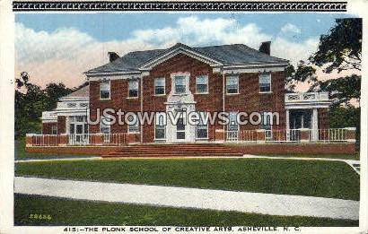 Plonk School of Creative Arts - Asheville, North Carolina NC Postcard