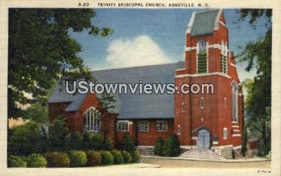 Trinity Episcopal Church - Asheville, North Carolina NC Postcard