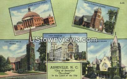 First Presbyterian Church - Asheville, North Carolina NC Postcard
